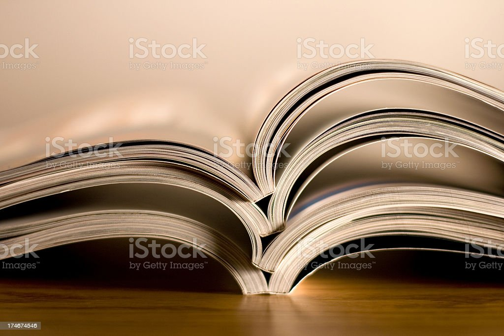 Opened magazines royalty-free stock photo