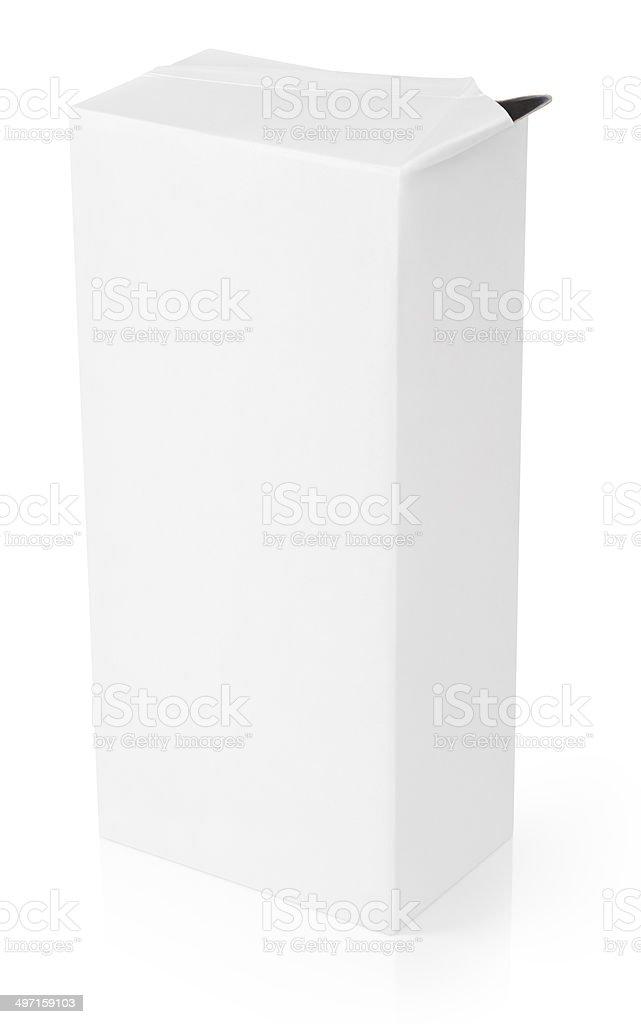 Inaugurado leite ou pacote de caixa de suco - foto de acervo