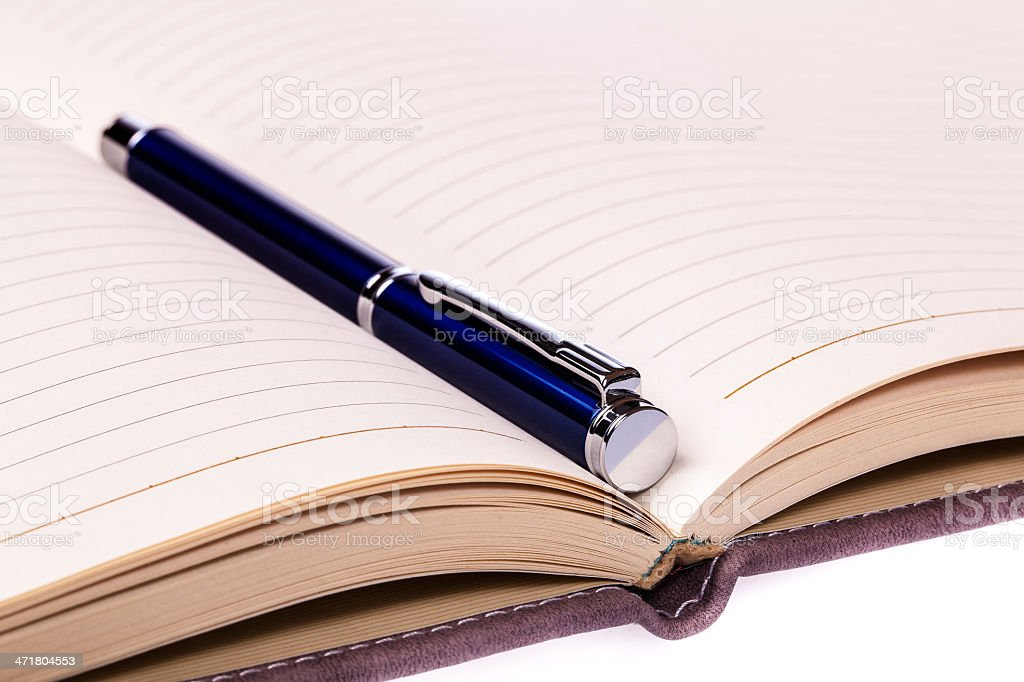 Opened notebook royalty-free stock photo