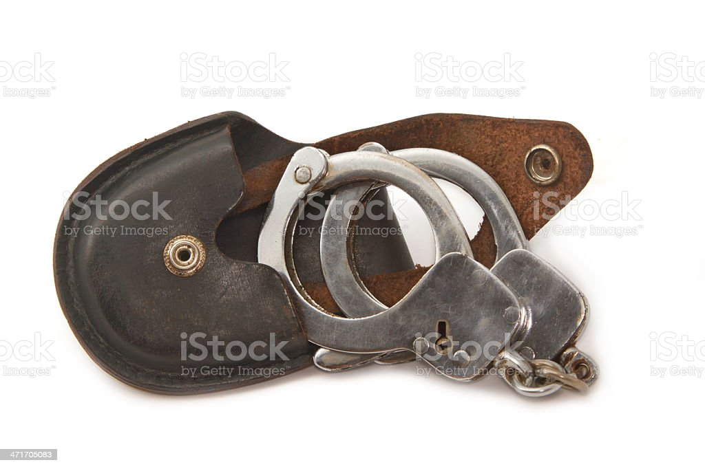 opened old handcuffs royalty-free stock photo