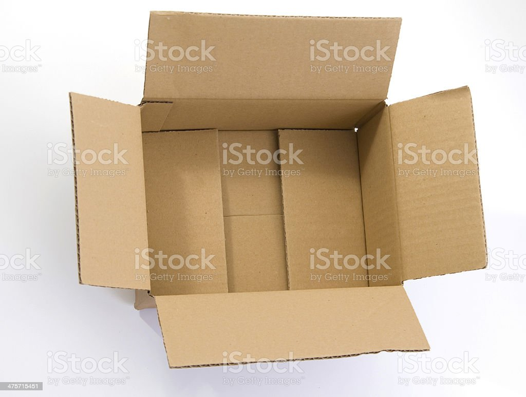 opened package stock photo