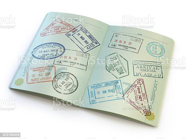 Opened passport with visa stamps in the pages picture id523185028?b=1&k=6&m=523185028&s=612x612&h=mopqcm3v9twygu0lqznpk9f1qdv0je37zos5fhocbw4=
