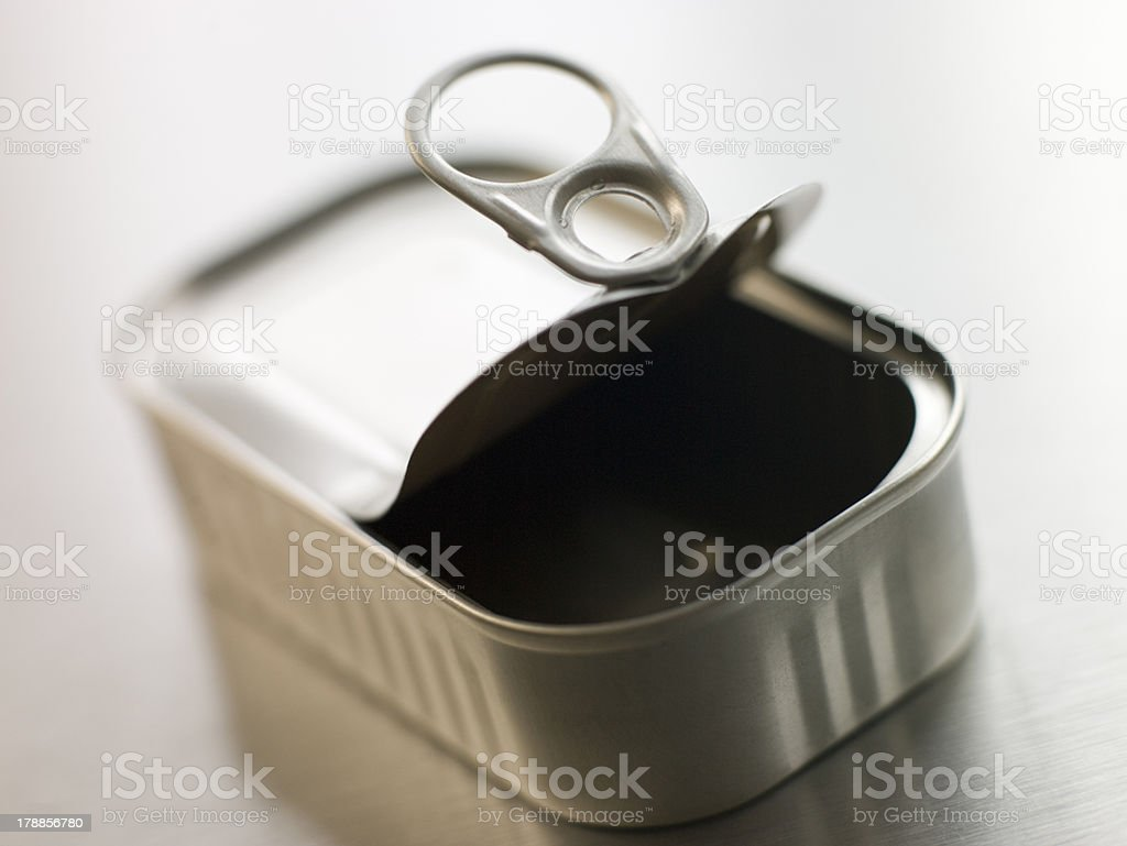 Opened Pull Ring Can royalty-free stock photo
