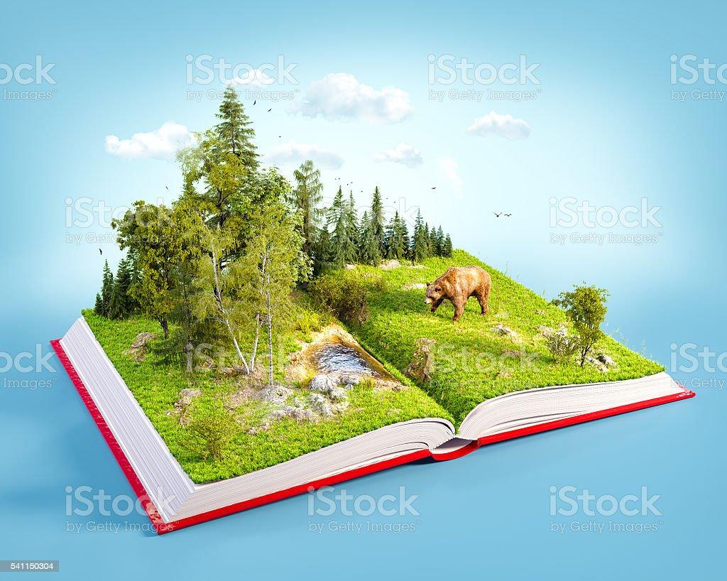 Opened red book - foto de acervo