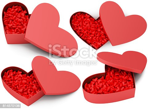 183269671istockphoto Opened red heart box with small hearts 814570136