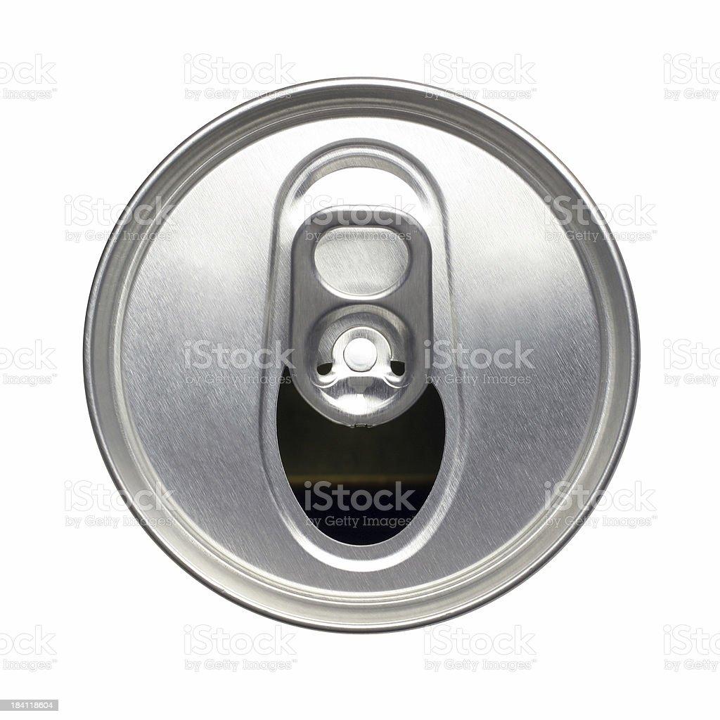 Opened Soda Can stock photo