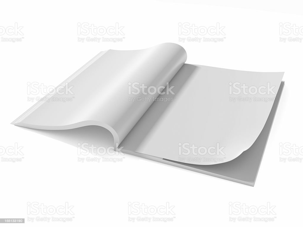 Opened the blank book  magazine 2 royalty-free stock photo
