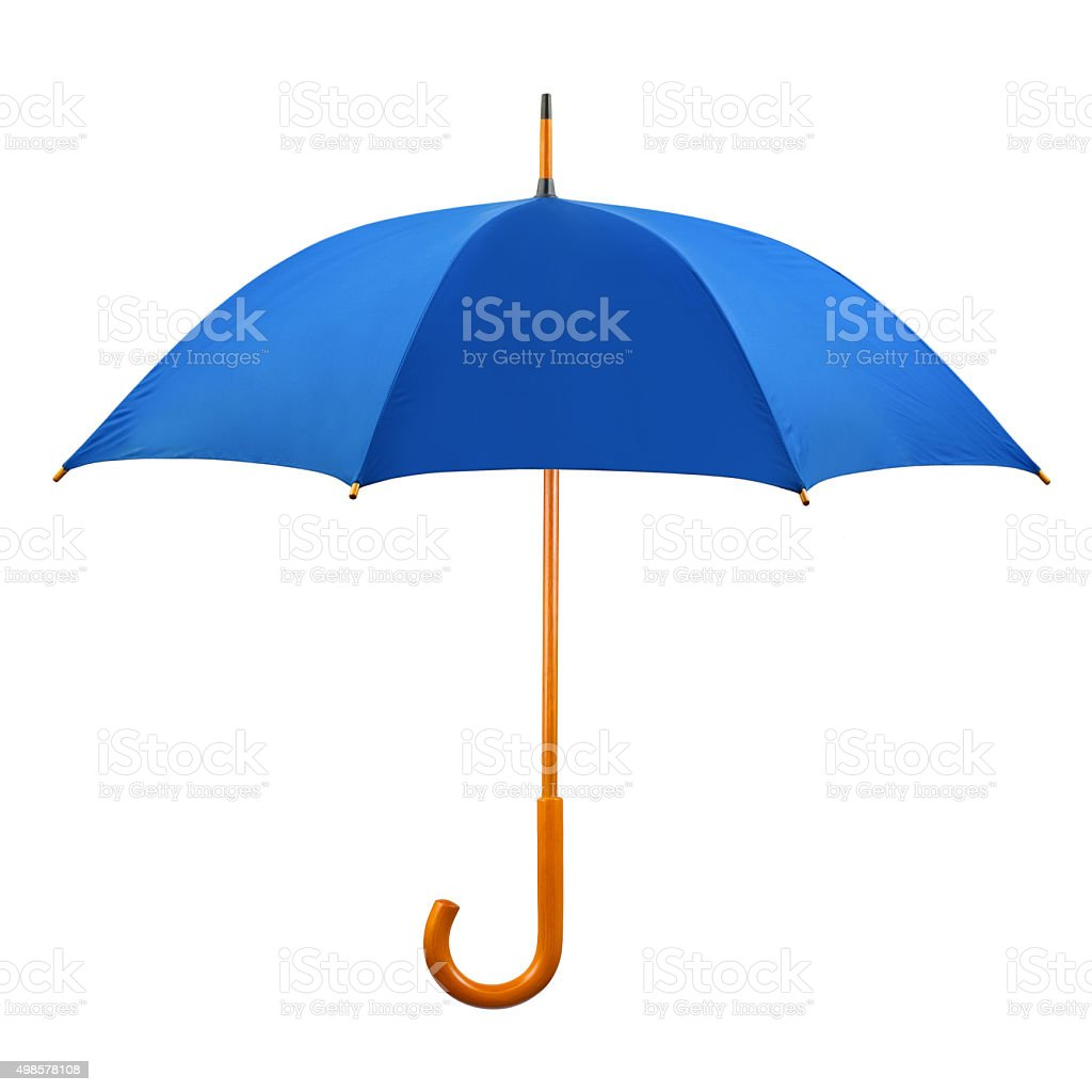 Opened umbrella stock photo