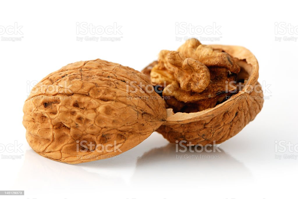Opened walnut royalty-free stock photo