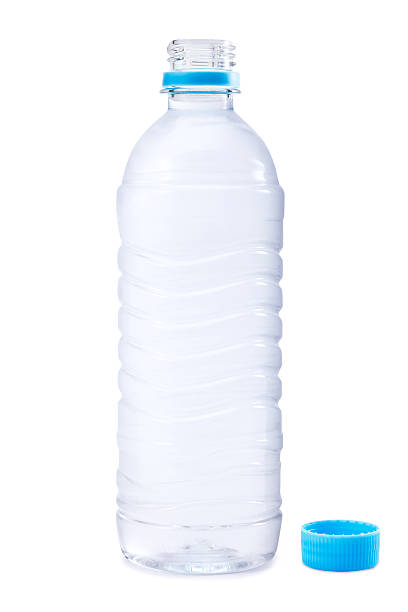 opened water bottle - plastic cap stock pictures, royalty-free photos & images