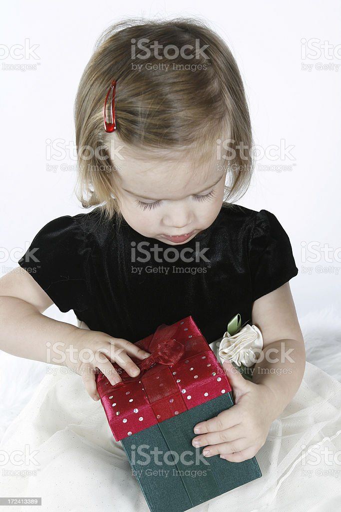 Opening A Gift stock photo