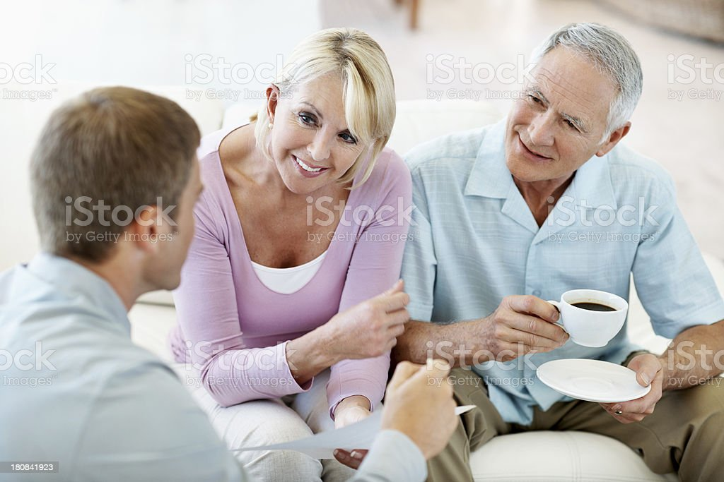 Opening a retirement fund stock photo