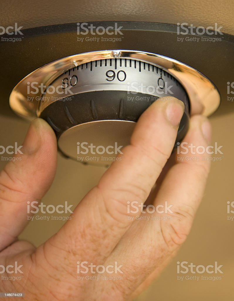 Opening a Safe stock photo