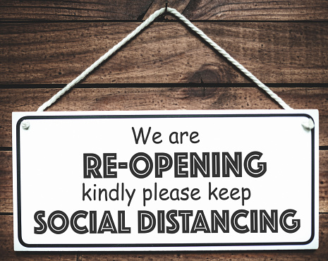 opening again with social distancing