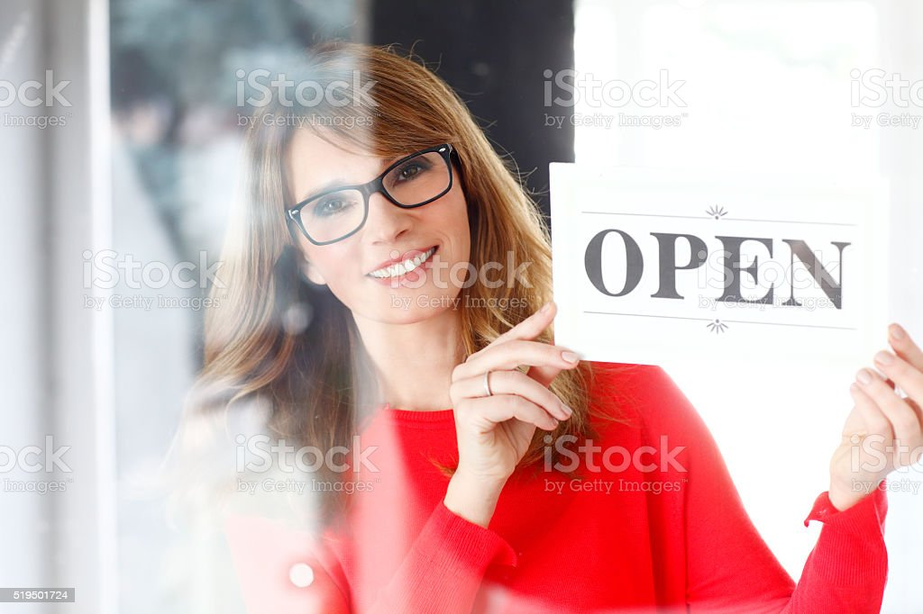 Opening all day stock photo