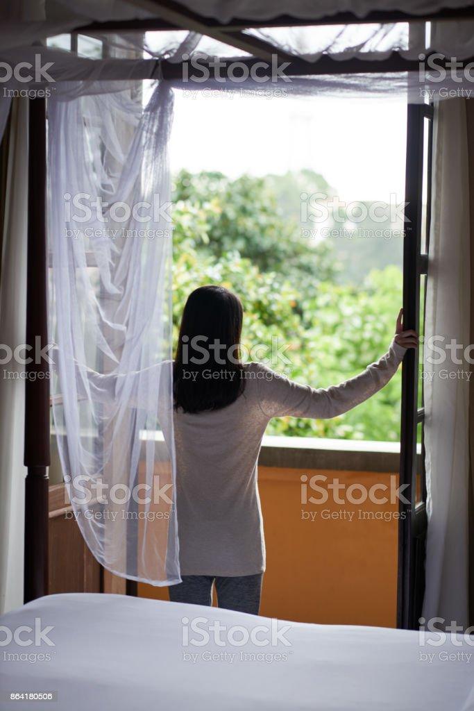 Opening balcony royalty-free stock photo