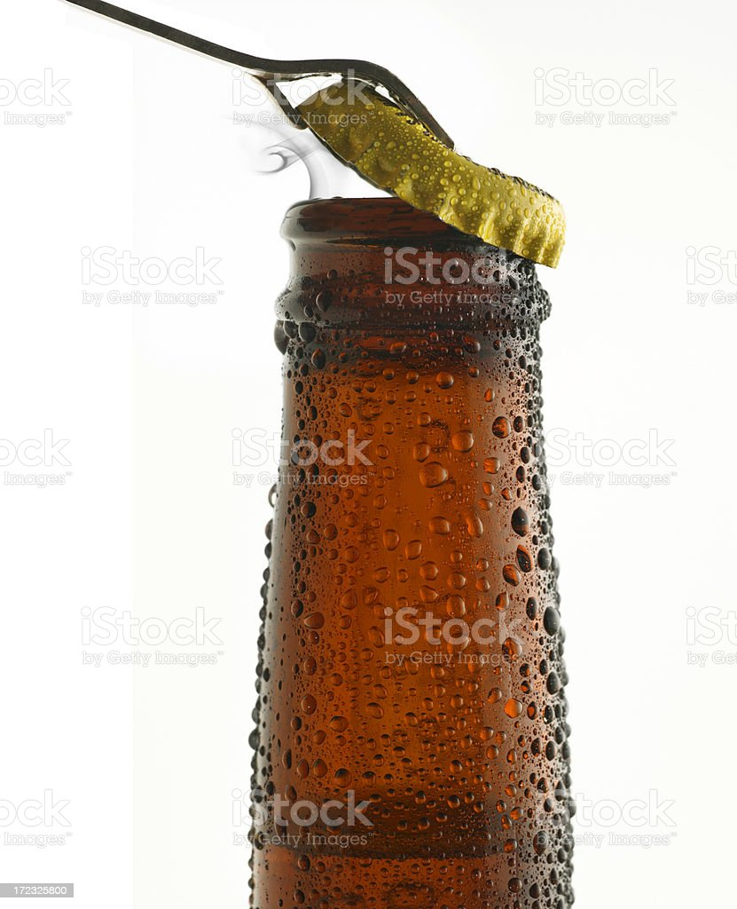 Opening Beer Bottle royalty-free stock photo