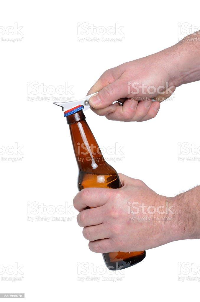 Opening Bottle stock photo
