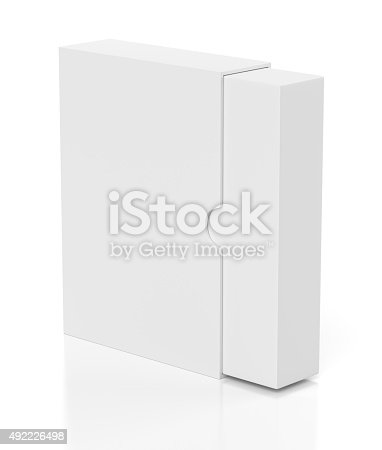 istock Opening box with slide cover isolated on white 492226498