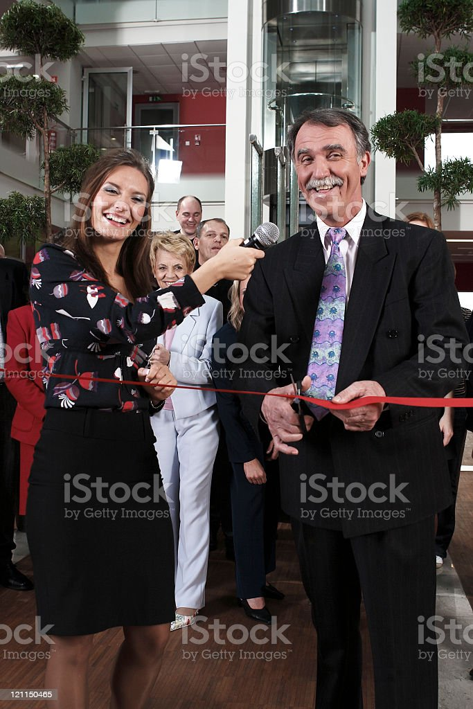 Opening celebration royalty-free stock photo