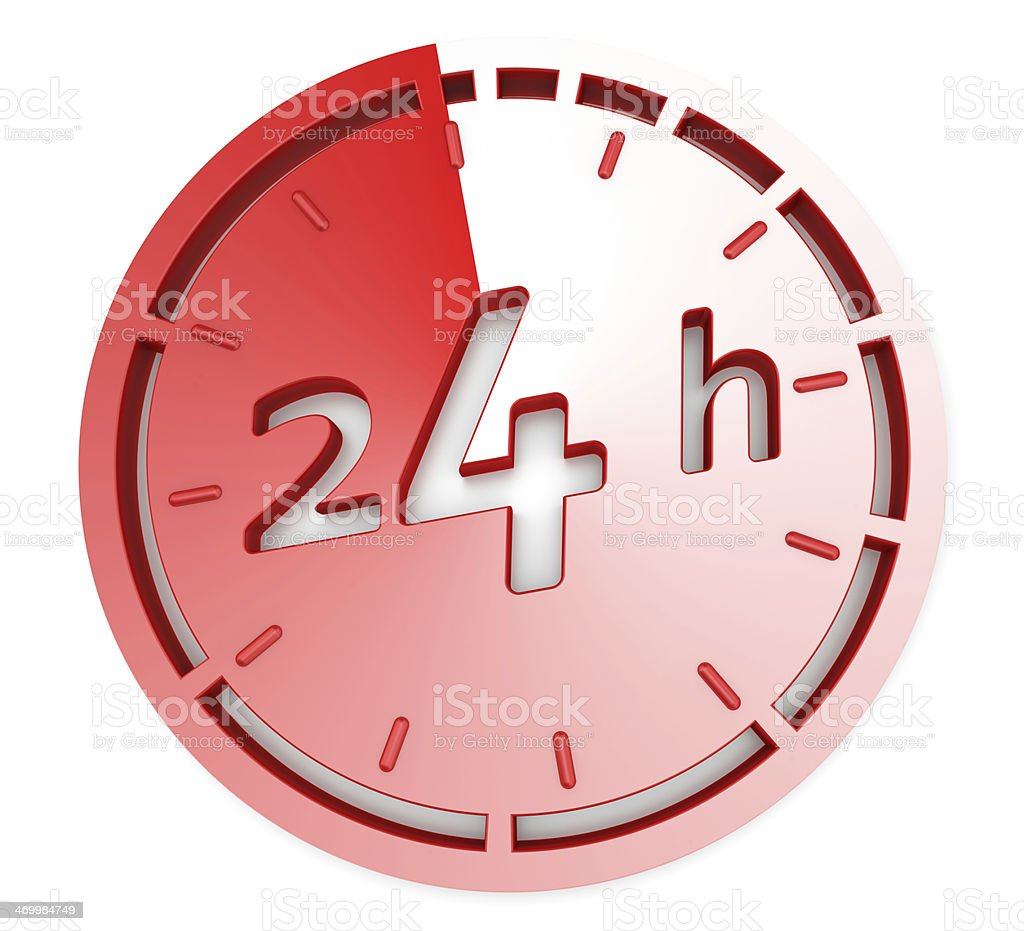 Opening Concept - 24 Hrs stock photo