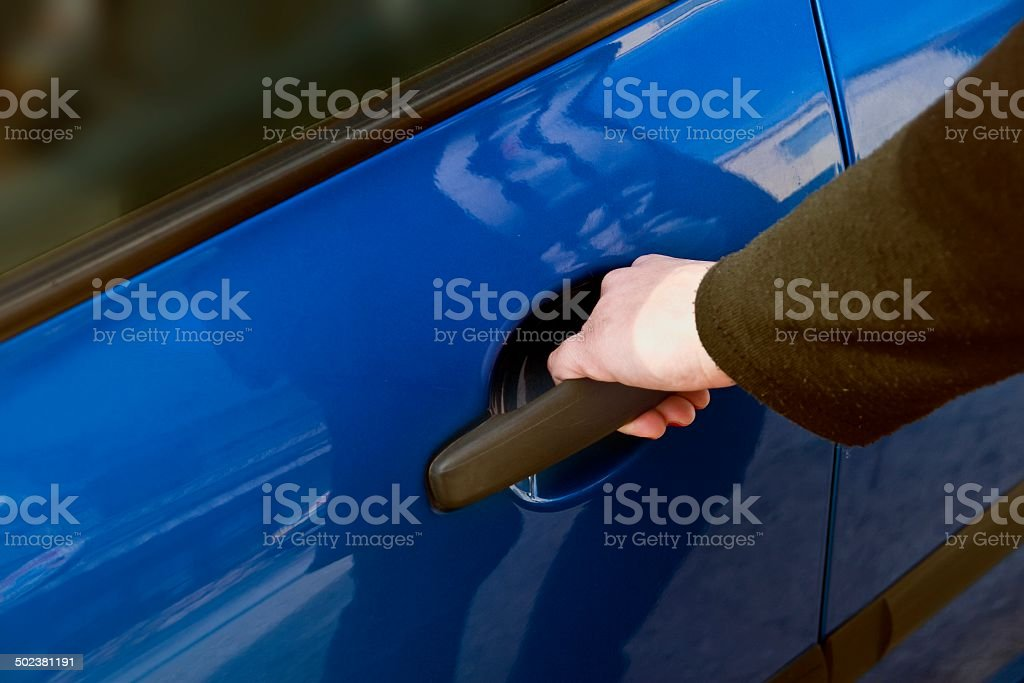 Opening door of a car royalty-free stock photo