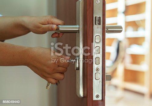 opening door with key