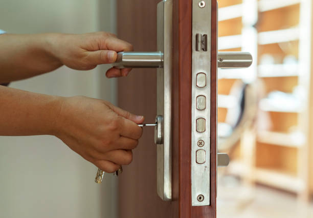 opening door with key - open gate stock photos and pictures