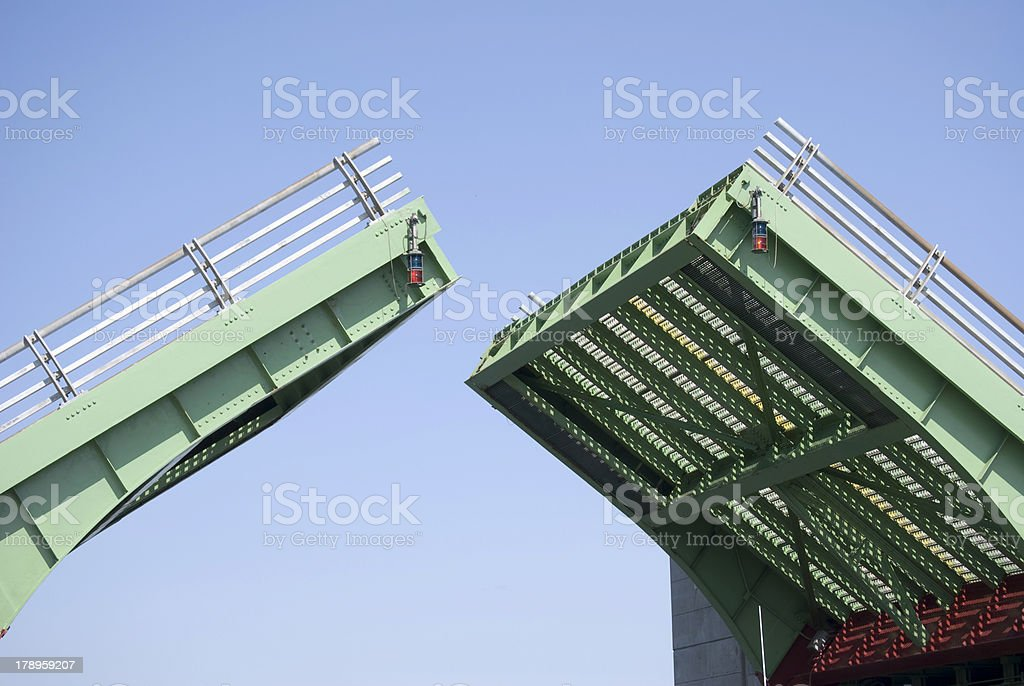 Opening Drawbridge stock photo