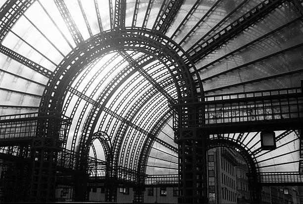 Opening entrance to Les Halles, Paris' food market stock photo