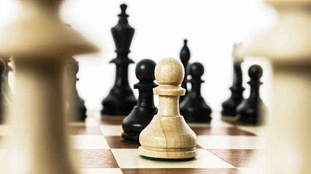 opening game of chess stock photo