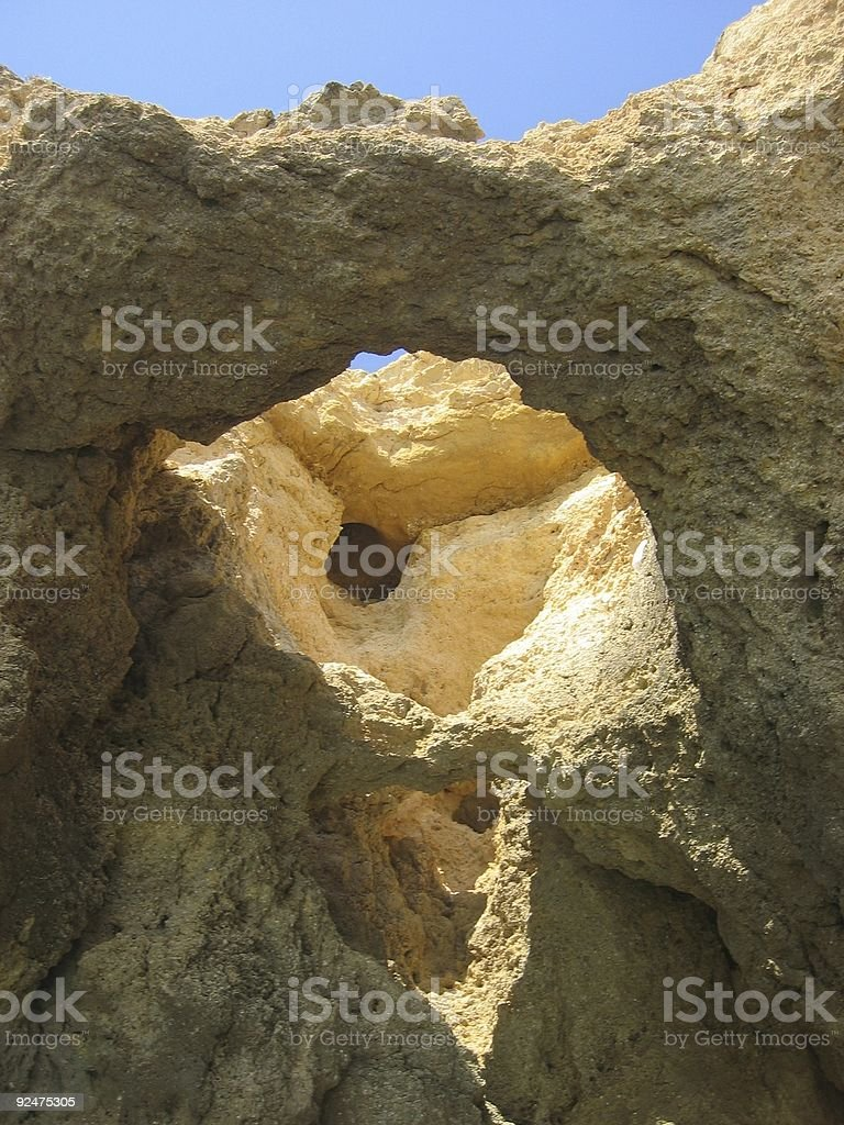 opening in cliff 2 royalty-free stock photo