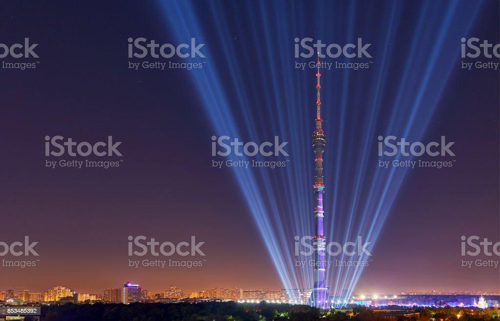 Opening of International Festival Circle of Light stock photo