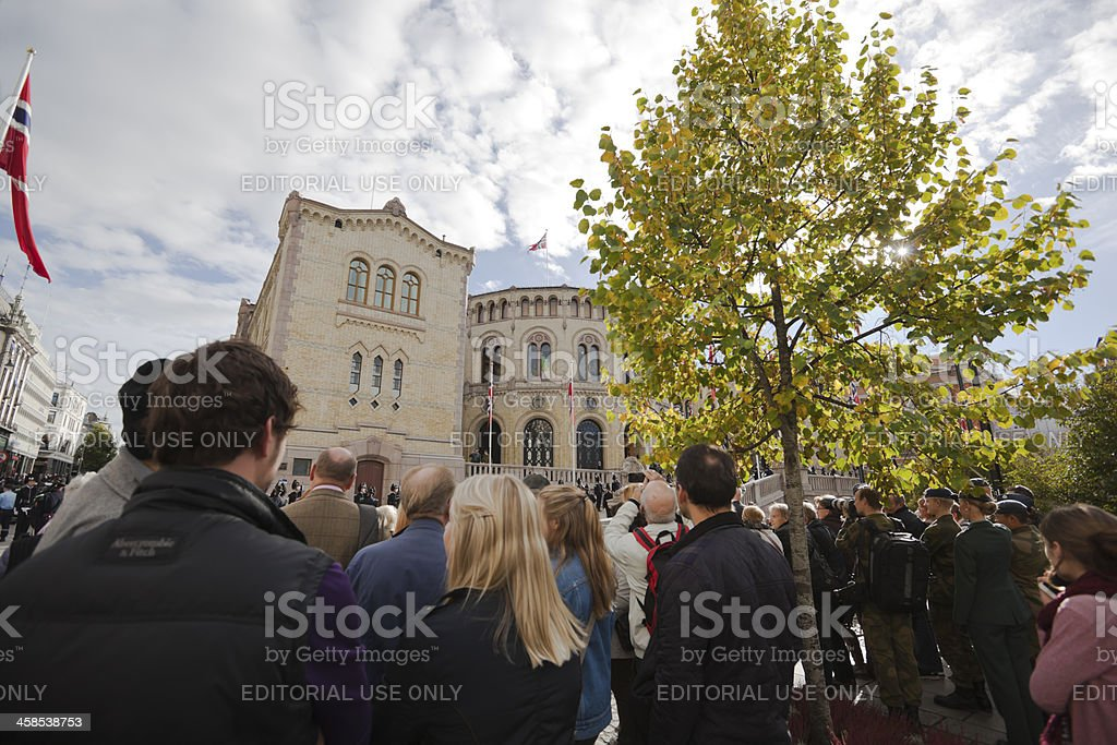 Opening of the Norwegian Parliament stock photo