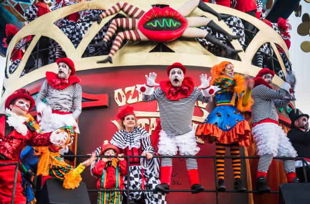 Opening parade 2018 of carnival in Viareggio, Tuscany, Italy. stock photo