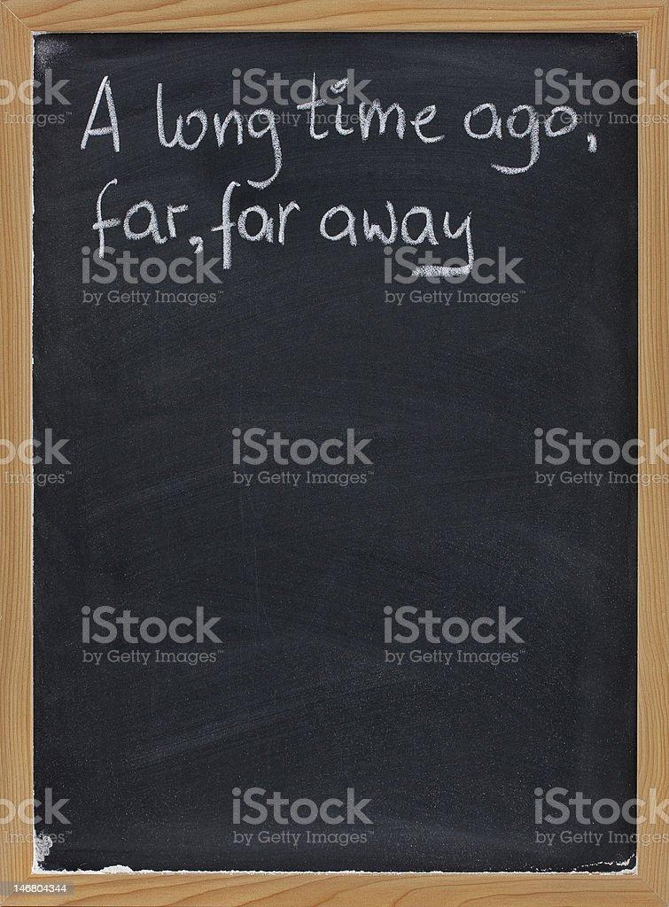opening phrase of storytelling or fairytale royalty-free stock photo