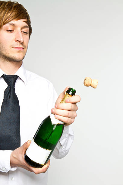 opening sparkling stock photo