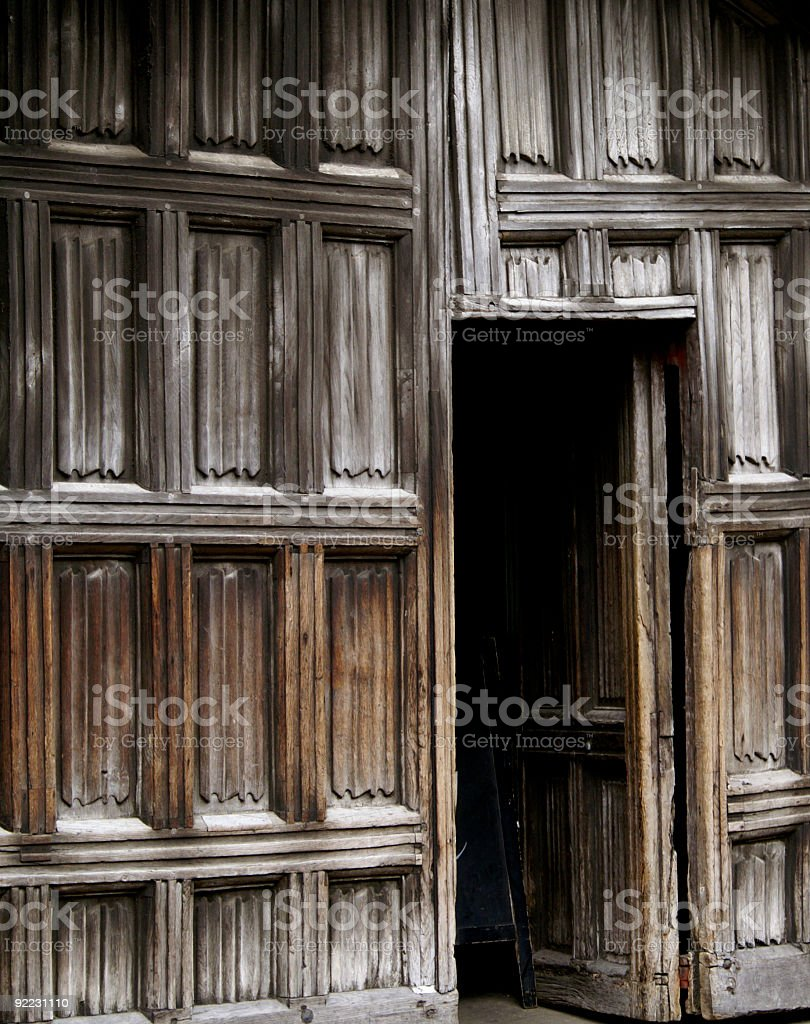 Opening the door to education, Christ's College royalty-free stock photo