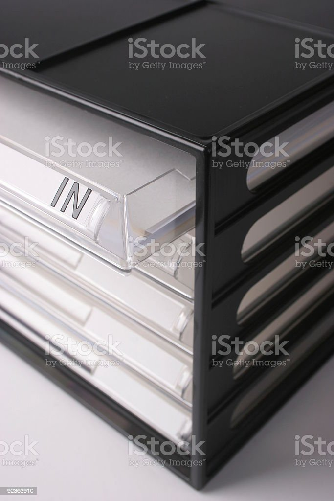 Opening the inbox royalty-free stock photo