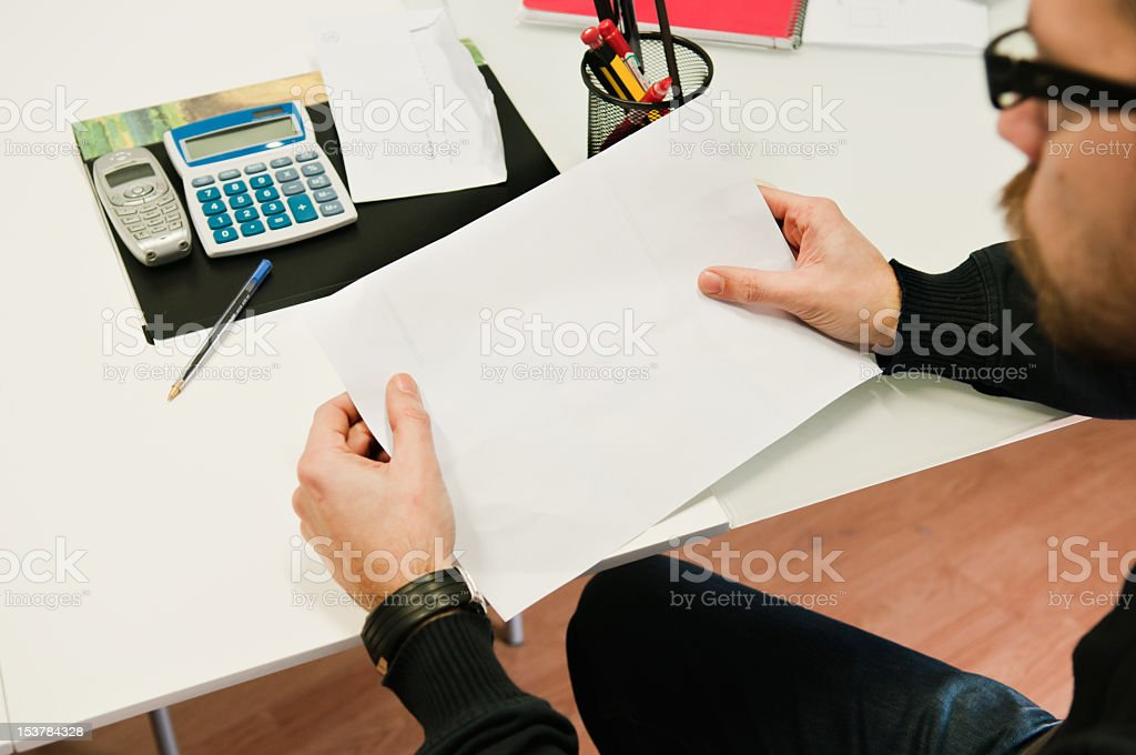 Opening the letter royalty-free stock photo