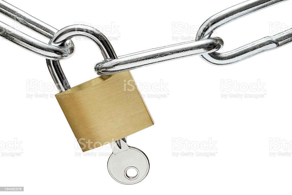 Opening the Lock stock photo