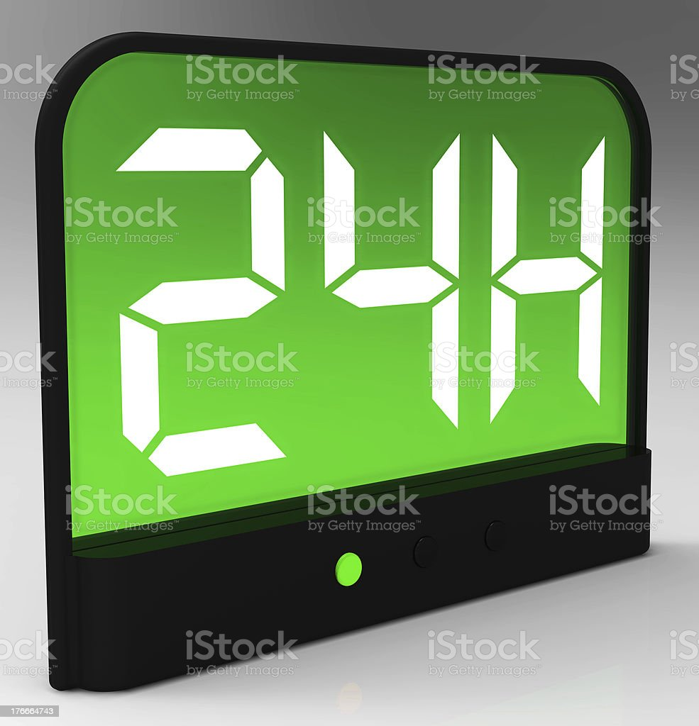 Opening Times Twenty Four Hours A Day royalty-free stock photo