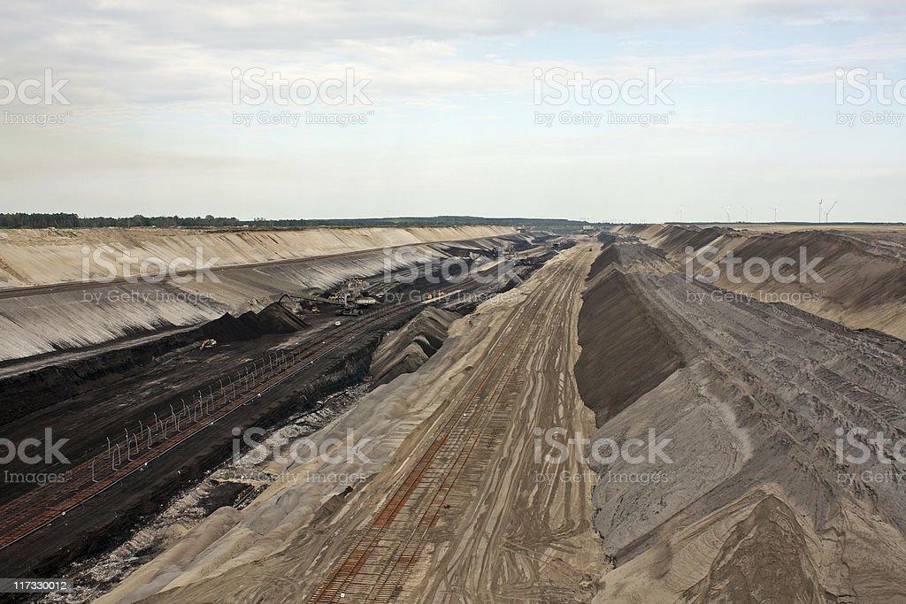 Open-pit Mine Cottbus-Nord stock photo