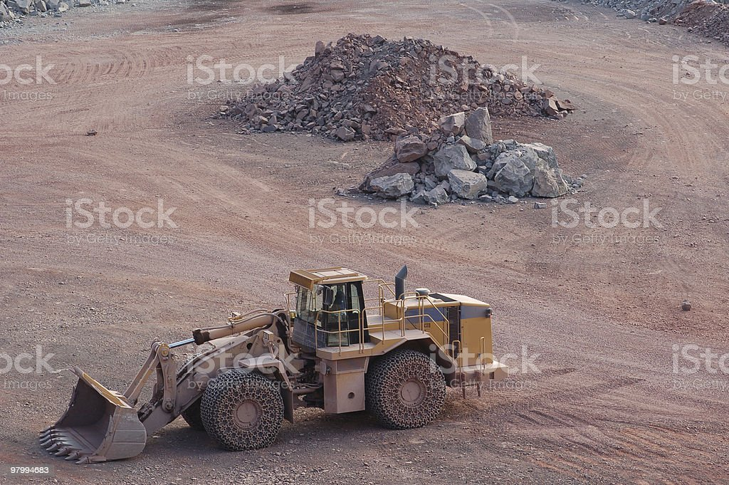 Open-pit Mine with Earth Mover royalty free stockfoto
