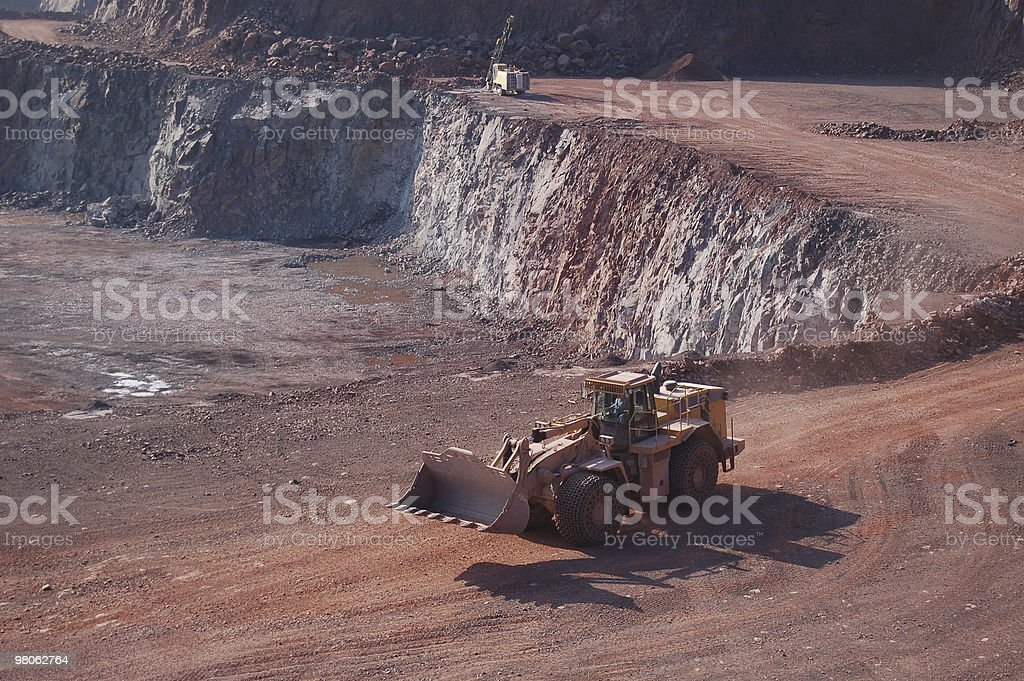 Open-pit Mine with Earth Mover royalty-free stock photo