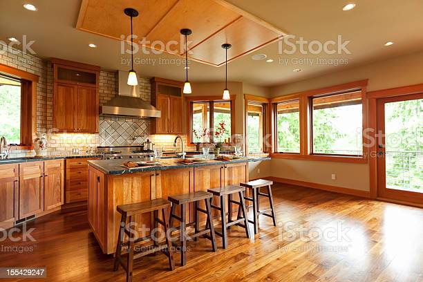 Openplan kitchen with wooden cabinets and walnut floor picture id155429247?b=1&k=6&m=155429247&s=612x612&h=rlfi vapx 3rweuhbpbgc mnlnmnpbnrm7dkleyjuqk=