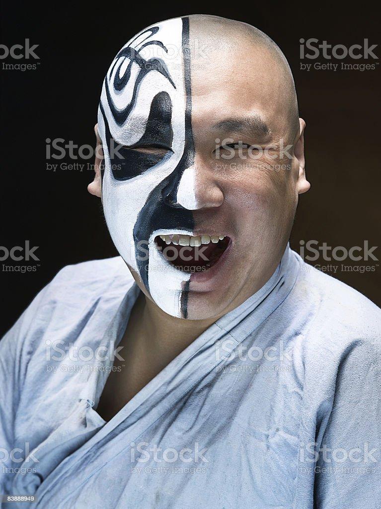 Opera Aktor z makijaż na połowie twarzy zbiór zdjęć royalty-free