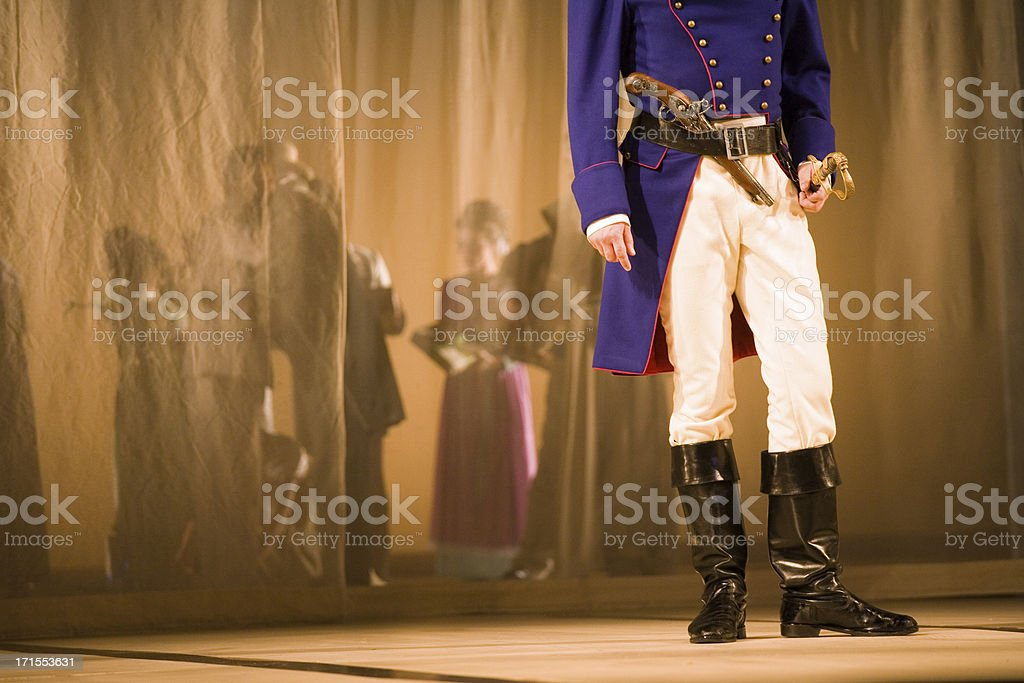 Opera at the stage stock photo