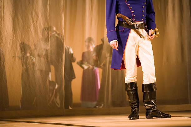 oper auf der bühne - stage musical stock-fotos und bilder