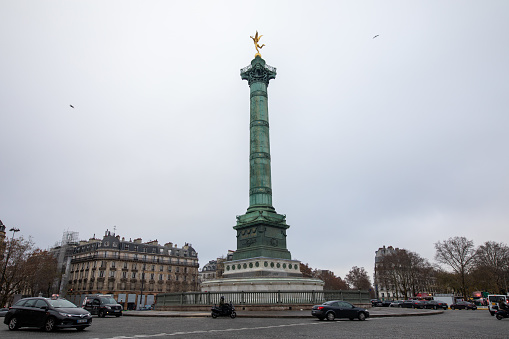 Opera Bastille in Place de la Bastille in Paris